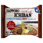 Sapporo Ichiban Japanese Style Beef Flavored Noodles and Soup