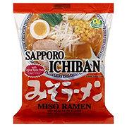 Sapporo Ichiban Japanese Style Noodles Miso (Soy Bean Paste) Ramen Flavor