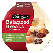 Sargento Balanced Breaks Pepper Jack Cheese with Peanuts and Raisins