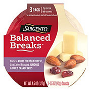 Sargento Balanced Breaks White Cheddar with Almonds and Cranberries