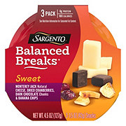 Sargento Sweet Balanced Breaks Monterey Jack Natural Cheese with Dried Cranberries, Dark Chocolate Chunks and Banana Chips