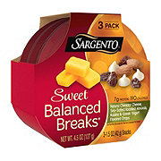 Sargento Sweet Balanced Breaks Natural Cheddar Cheese with Sea-Salted Roasted Almonds, Raisins and Greek Yogurt Flavored Drops