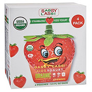 Sassy Lassi Kids Yogurt Organic Strawmazing Yogurt