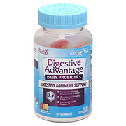 Schiff Digestive Advantage Assorted Natural Fruit Flavors Probiotic Gummies