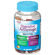 Schiff Digestive Advantage Natural Fruit Flavors Probiotic Gummies Plus Fiber