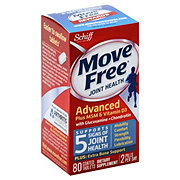 Schiff Move Free Total Joint Health Advanced Plus MSM and Vitamin D3 2000 IU Coated Tablets