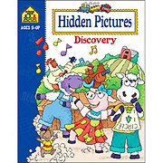School Zone Ages 5-Up Hidden Pictures Discovery Workbook