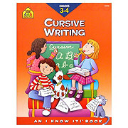 School Zone Grades 3-4 Cursive Writing Workbook