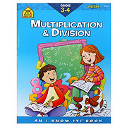 School Zone Grades 3-4 Multiplications And Division Workbook
