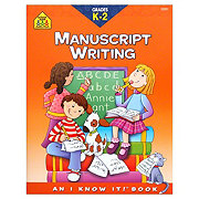 School Zone Grades K-2 Manuscript Writing Workbook