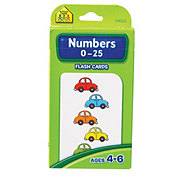 School Zone Numbers 0-25 Flash Cards, Ages 4-6