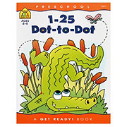 School Zone Preschool 1-25 Dot-to-Dot Workbook, Ages 4-6