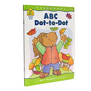 School Zone Preschool ABC Dot-To-Dot Workbook, Ages 4-6