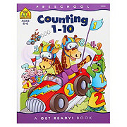 School Zone Preschool Counting 1-10 Workbook, Ages 4-6