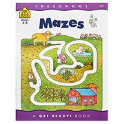 School Zone Preschool Mazes Workbook, Ages 4-6