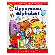 School Zone Preschool Uppercase Alphabet Workbook, Ages 4-6