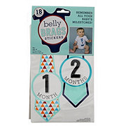 Schroeder & Tremayne Belly Brags Pink or Blue Assorted Stickers