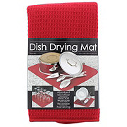 Schroeder & Tremayne Red Dish Drying Mat
