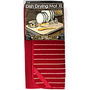 Schroeder & Tremayne Red Extra Large  Dish Drying Mat 18x24 in
