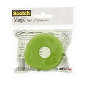 Scotch Dispenser With Magic Tape, Assorted Colors