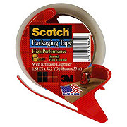 Scotch High Performance Packaging Tape With Refillable Dispenser, 1.88 inx38.2 yds