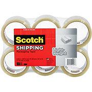 Scotch Lightweight Shipping Packaging Tape, 1.88 inx54.6 yds