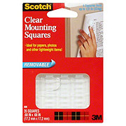 Scotch Removable Clear Mounting Squares .68x.68 in