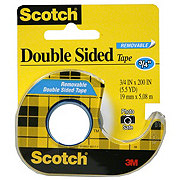 Scotch Removable Double Sided Tape .75x200 in