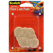 Scotch Self-Stick 1 in Round Beige Felt Pads
