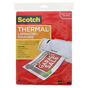 Scotch Thermal Laminating Pouches, 20 ct