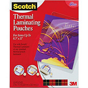Scotch Thermal Laminating Pouches 8.5x11in