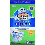 Scrubbing Bubbles Fresh Brush Citrus Action Scent Toilet Flushable Pad Refills
