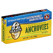 Season Flat Fillets Anchovies in Pure Olive Oil