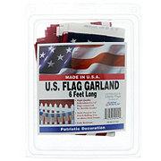 Seasonal Designs Flag Garland 6 ft