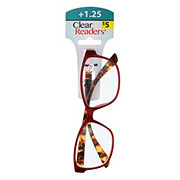 Select A Vision Clear Readers Glasses +1.25 Assorted Colors