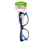 Select A Vision Clear Readers Glasses +2.00 Assorted Colors