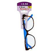 Select A Vision Clear Readers Glasses +2.50 Assorted Colors