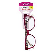 Select A Vision Clear Readers Glasses +3.00 Assorted Colors