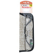 Select A Vision Metal Rectangle Black and Gunmetal +2.75