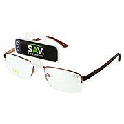 Select A Vision Semi Rimless Metal Glasses +1.75