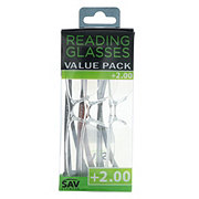 Select A Vision Value Pack Reading Glasses +2.00
