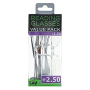 Select A Vision Value Pack Reading Glasses +2.50