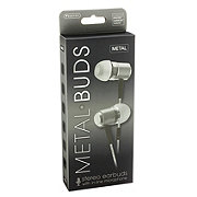 Sentry Metal Buds Grey Stereo Earbuds