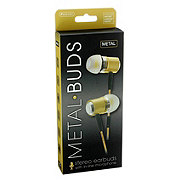 Sentry Metal Buds Rose Gold Stereo Earbuds