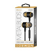 Sentry Metal Earbuds With Mic Black/gold
