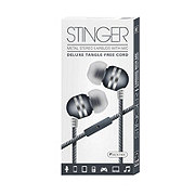 Sentry Stinger Earbuds With Microphone, Black
