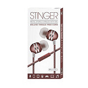 Sentry Stinger Earbuds With Microphone, Pink