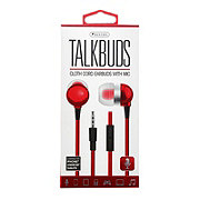 Sentry Talk Buds Ear Buds With Mic, Red