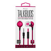 Sentry Talkbuds Earbuds with Mic, Pink