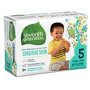Seventh Generation Free & Clear Diapers with Animal Prints 23 ct